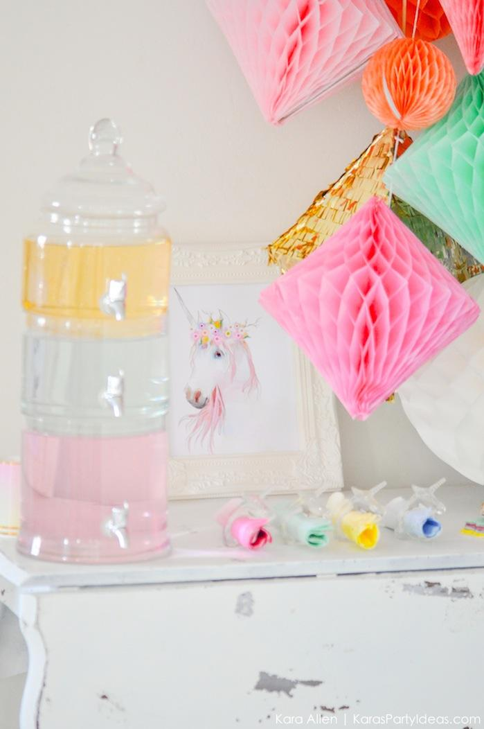 Unicorn tears drink at a unicorn themed birthday party by Kara's Party Ideas | Kara Allen | KarasPartyIdeas.com-200-89