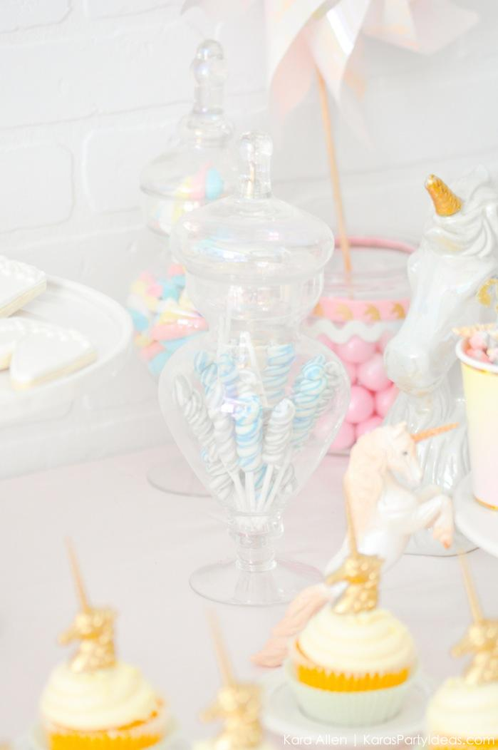 Unicorn themed birthday party by Kara's Party Ideas | Kara Allen | KarasPartyIdeas.com-200-51