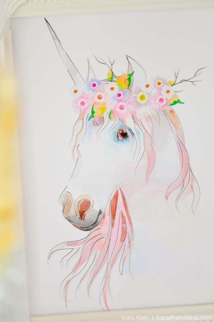 Unicorn themed birthday party by Kara's Party Ideas | Kara Allen | KarasPartyIdeas.com-200-83
