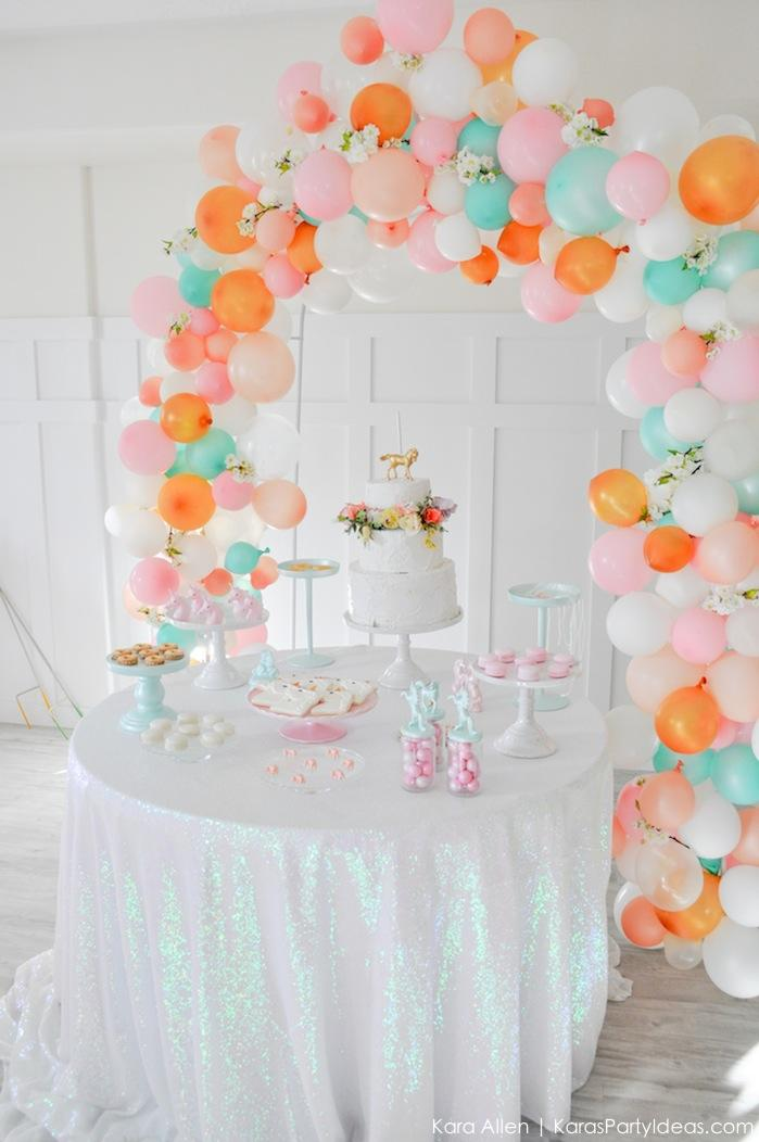Unicorn themed birthday party by Kara's Party Ideas | Kara Allen | KarasPartyIdeas.com-82