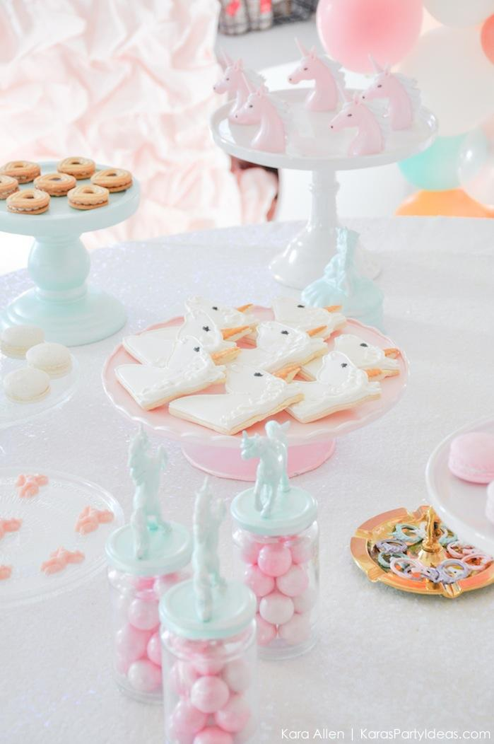 Unicorn themed birthday party by Kara's Party Ideas | Kara Allen | KarasPartyIdeas.com