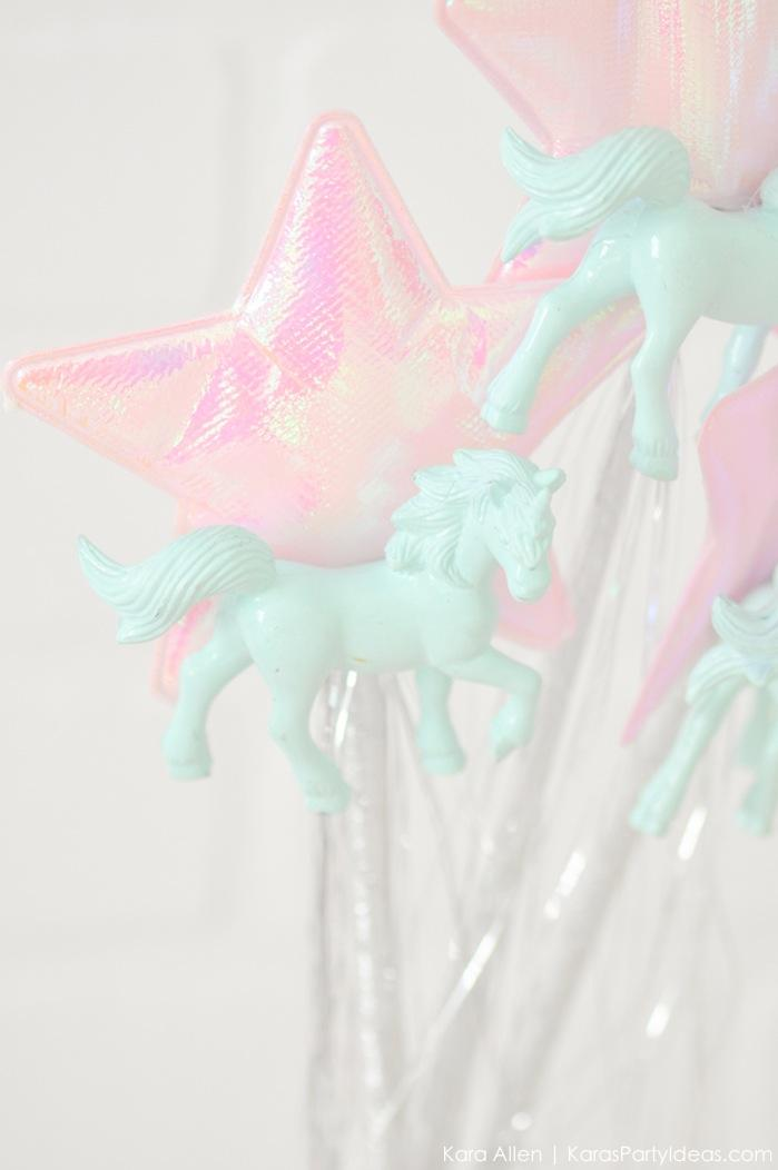 Unicorn wands at a unicorn themed birthday party by Kara's Party Ideas | Kara Allen | KarasPartyIdeas.com-200-25