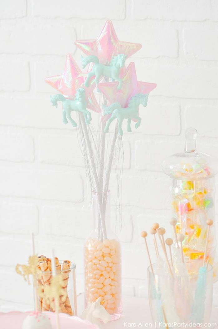 Unicorn wands at a unicorn themed birthday party by Kara's Party Ideas | Kara Allen | KarasPartyIdeas.com-200-47