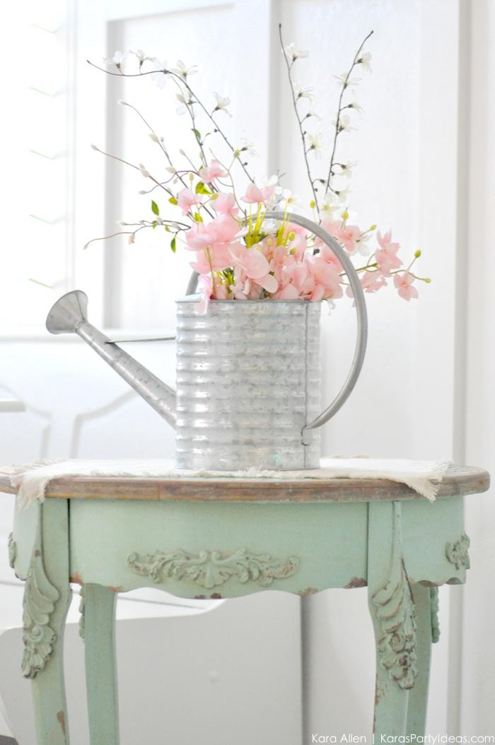 Watering Can Floral Spring Centerpiece by Kara's Party Ideas | Kara Allen #michalesmakers 2