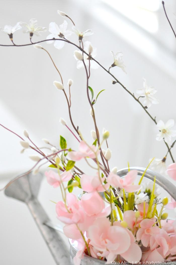 Watering Can Floral Spring Centerpiece by Kara's Party Ideas | Kara Allen #michalesmakers 3