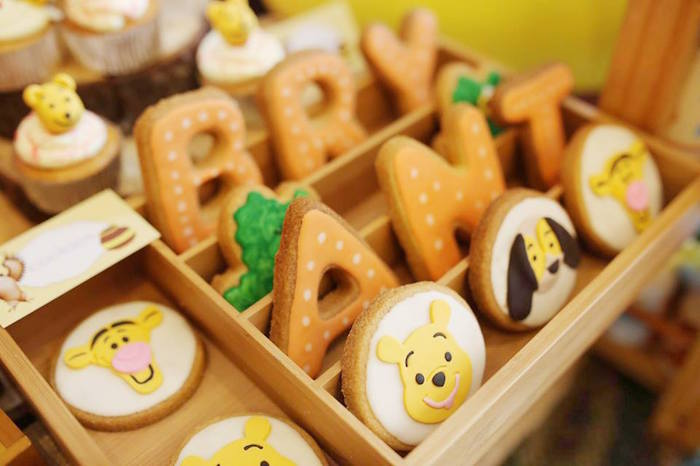 Cookies from a Winnie the Pooh Themed Birthday Party via Kara's Party Ideas! KarasPartyIdeas.com (18)