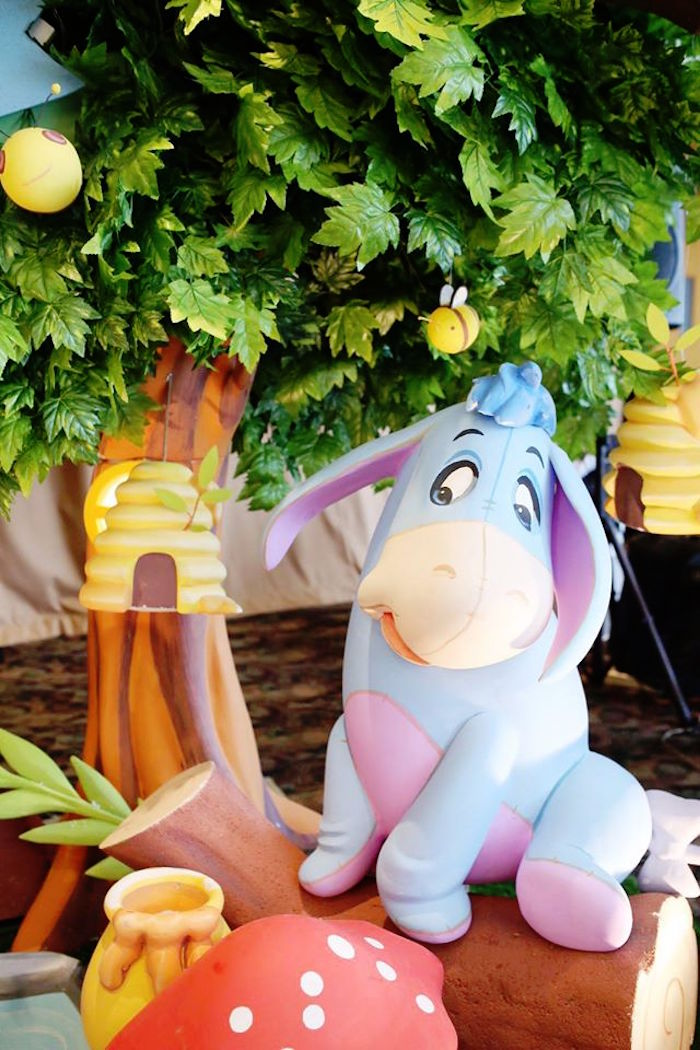 Eeyore from a Winnie the Pooh Themed Birthday Party via Kara's Party Ideas! KarasPartyIdeas.com (15)
