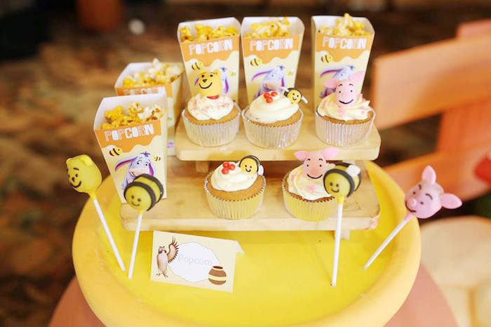 Snacks + Sweets from a Winnie the Pooh Themed Birthday Party via Kara's Party Ideas! KarasPartyIdeas.com (6)