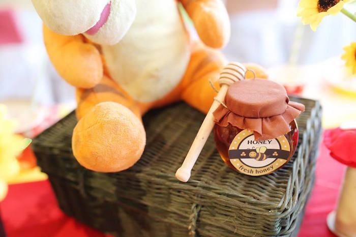 Honey Pot Favor from a Winnie the Pooh Themed Birthday Party via Kara's Party Ideas! KarasPartyIdeas.com (29)