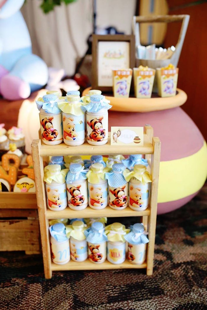 Drinks from a Winnie the Pooh Themed Birthday Party via Kara's Party Ideas! KarasPartyIdeas.com (26)