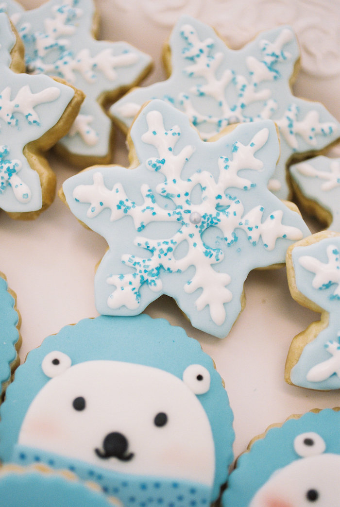 Cookies from a Winter ONEderland Birthday Party via Kara's Party Ideas KarasPartyIdeas.com (20)