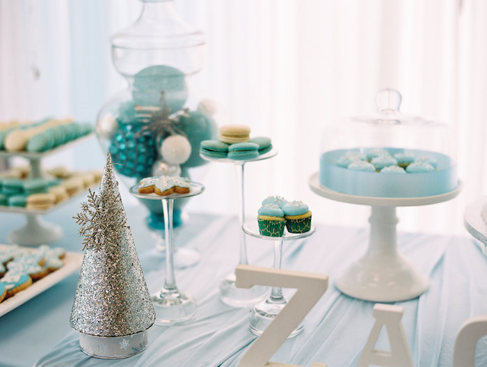 Sweets + Decor from a Winter ONEderland Birthday Party via Kara's Party Ideas KarasPartyIdeas.com (17)
