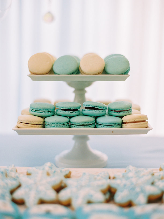 Macarons from a Winter ONEderland Birthday Party via Kara's Party Ideas KarasPartyIdeas.com (16)