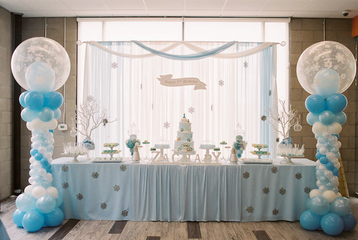 Head Table from a Winter ONEderland Birthday Party via Kara's Party Ideas KarasPartyIdeas.com (34)