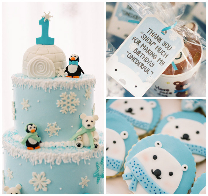 Karas Party Ideas Arctic Winter ONEderland Birthday Party Karas