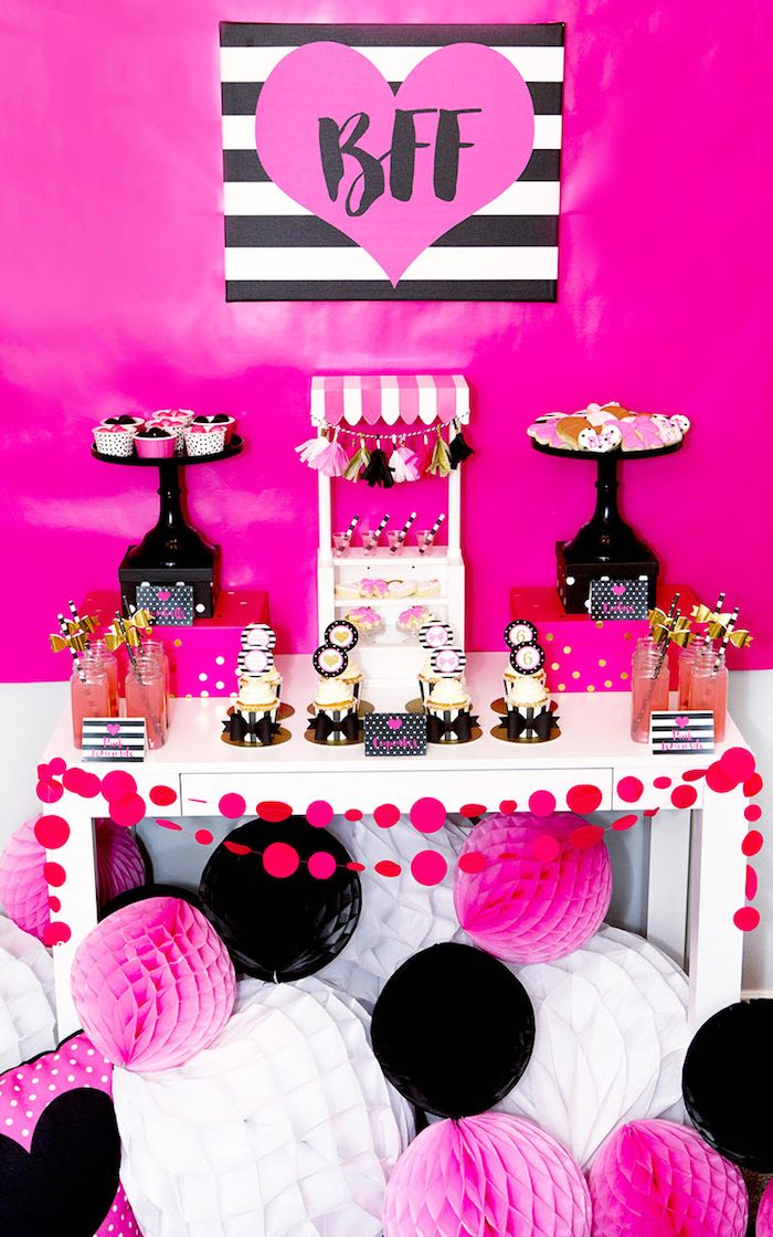 Sweet Table from an American Girl Doll BFF Party: Inspired by Kate Spade via Kara's Party Ideas | KarasPartyIdeas.com (12)