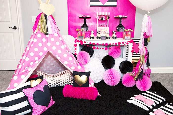 Party Setup from an American Girl Doll BFF Party: Inspired by Kate Spade via Kara's Party Ideas | KarasPartyIdeas.com (11)