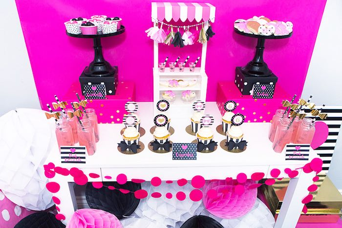 Sweet Table Details from an American Girl Doll BFF Party: Inspired by Kate Spade via Kara's Party Ideas | KarasPartyIdeas.com (8)