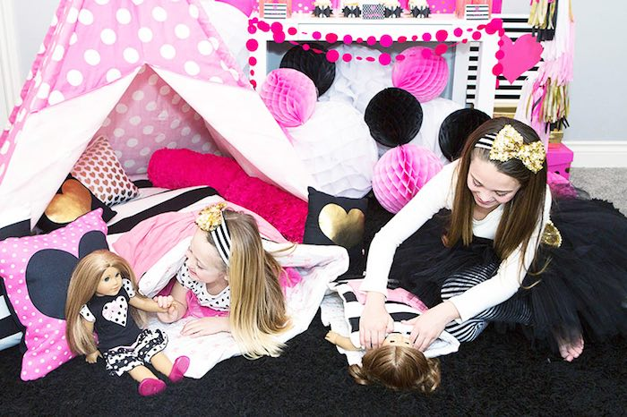 Playtime at an American Girl Doll BFF Party: Inspired by Kate Spade via Kara's Party Ideas | KarasPartyIdeas.com (25)