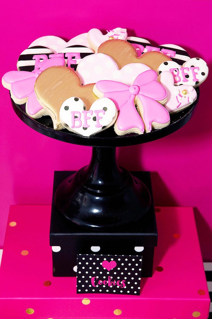 Cookies from an American Girl Doll BFF Party: Inspired by Kate Spade via Kara's Party Ideas | KarasPartyIdeas.com (6)