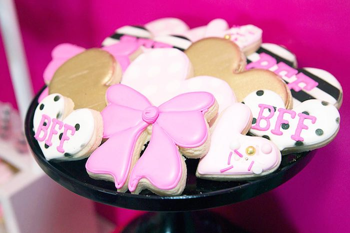 Cookies from an American Girl Doll BFF Party: Inspired by Kate Spade via Kara's Party Ideas | KarasPartyIdeas.com (4)