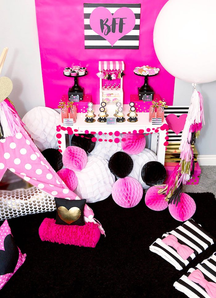 Dessert Table from an American Girl Doll BFF Party: Inspired by Kate Spade via Kara's Party Ideas | KarasPartyIdeas.com (3)