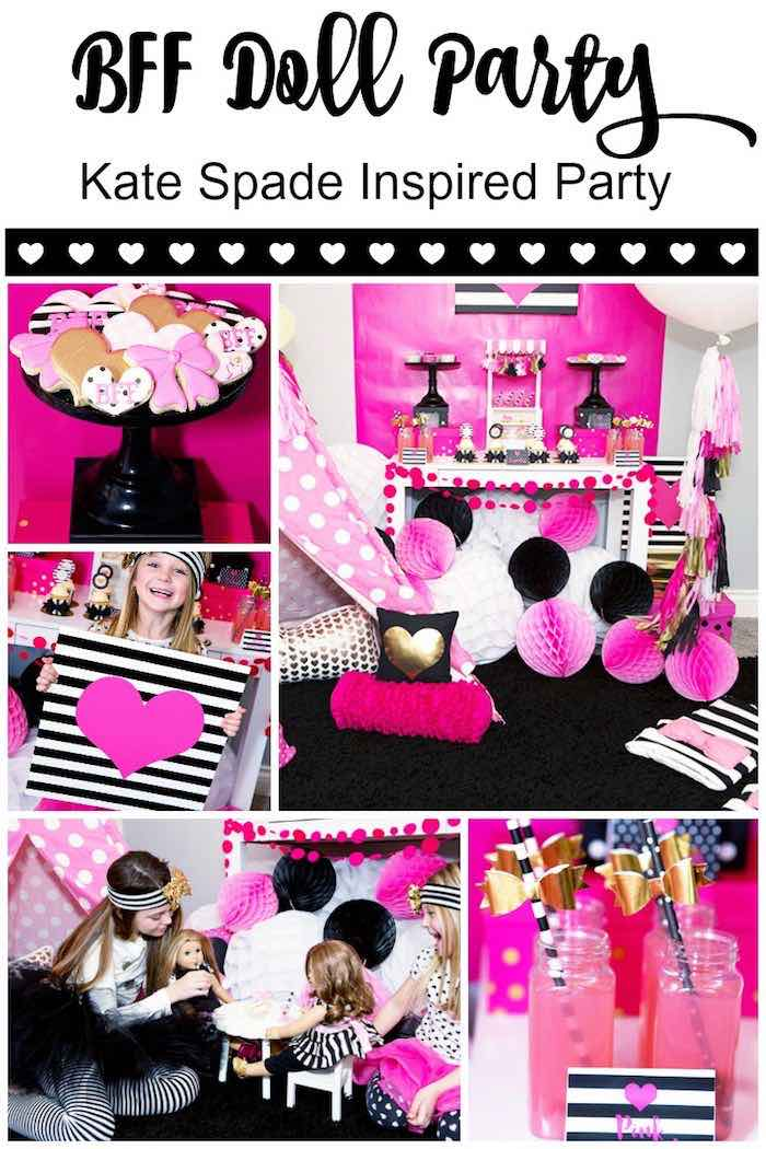 Details from an American Girl Doll BFF Party: Inspired by Kate Spade via Kara's Party Ideas | KarasPartyIdeas.com (2)