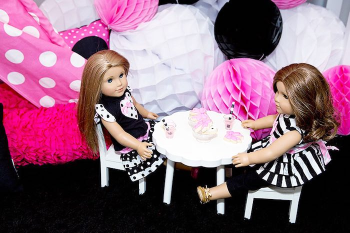 Dolls from an American Girl Doll Party: Inspired by Kate Spade via Kara's Party Ideas | KarasPartyIdeas.com (24)