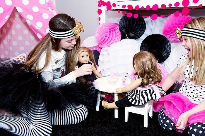 Playtime at an American Girl Doll BFF Party: Inspired by Kate Spade via Kara's Party Ideas | KarasPartyIdeas.com (23)