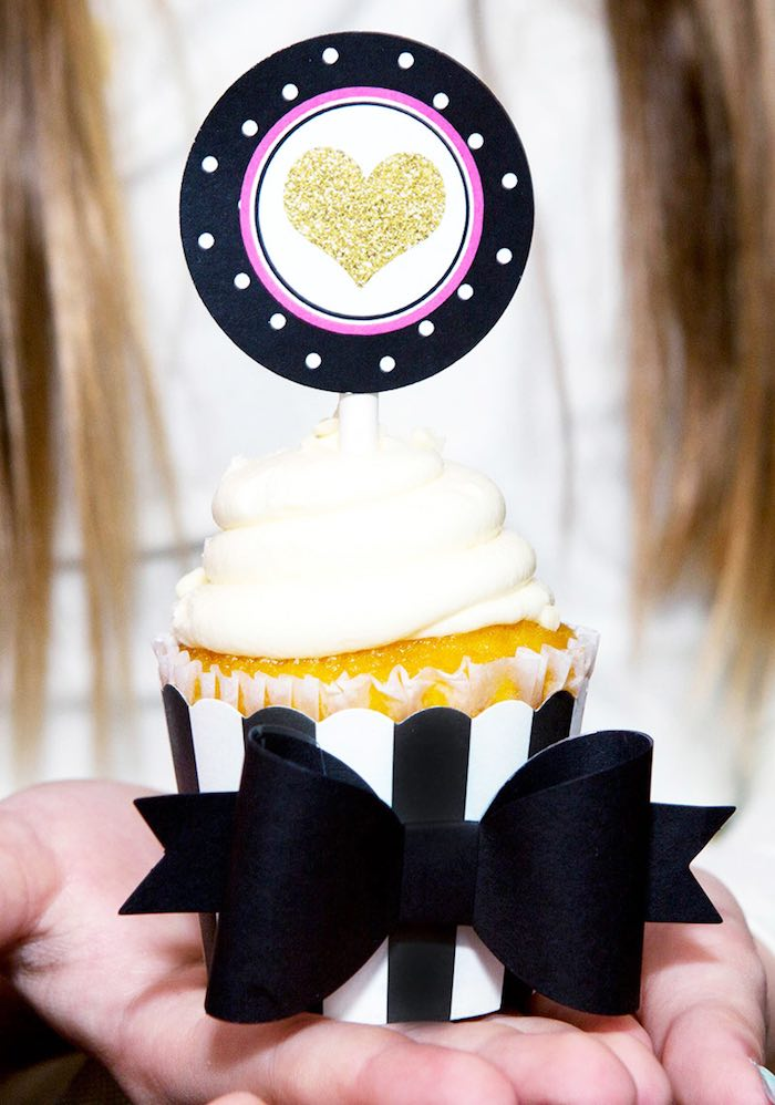 Cupcake from an American Girl Doll BFF Party: Inspired by Kate Spade via Kara's Party Ideas | KarasPartyIdeas.com (20)