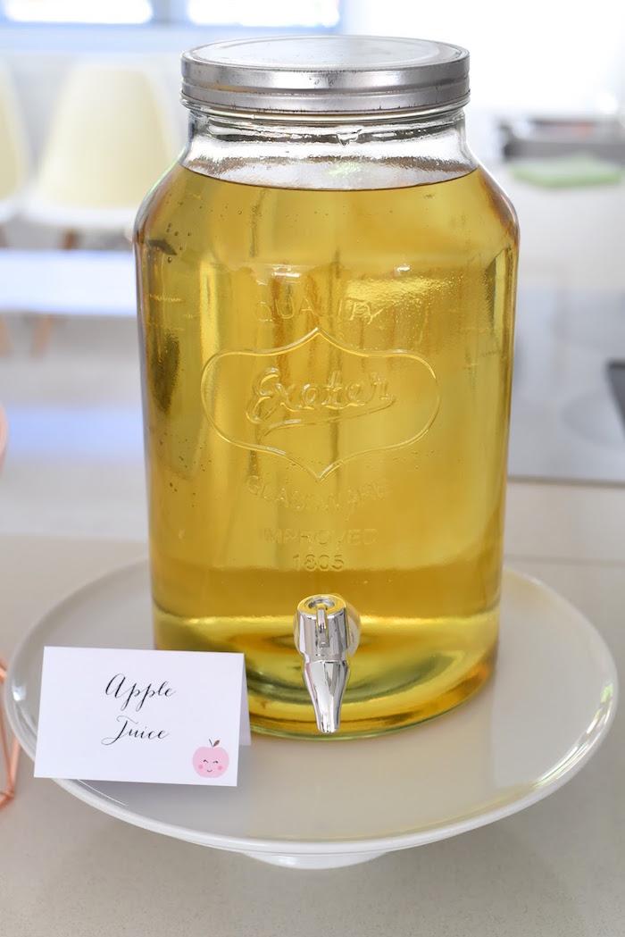 Apple Juice from an Apple of my Eye Themed Birthday Party via Kara's Party Ideas |KarasPartyIdeas.com (13)