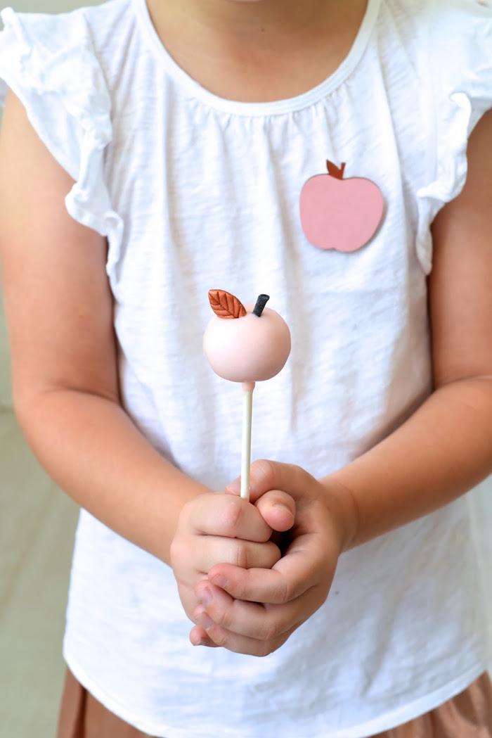 Apple Cake Pop from an Apple of my Eye Themed Birthday Party via Kara's Party Ideas |KarasPartyIdeas.com (8)