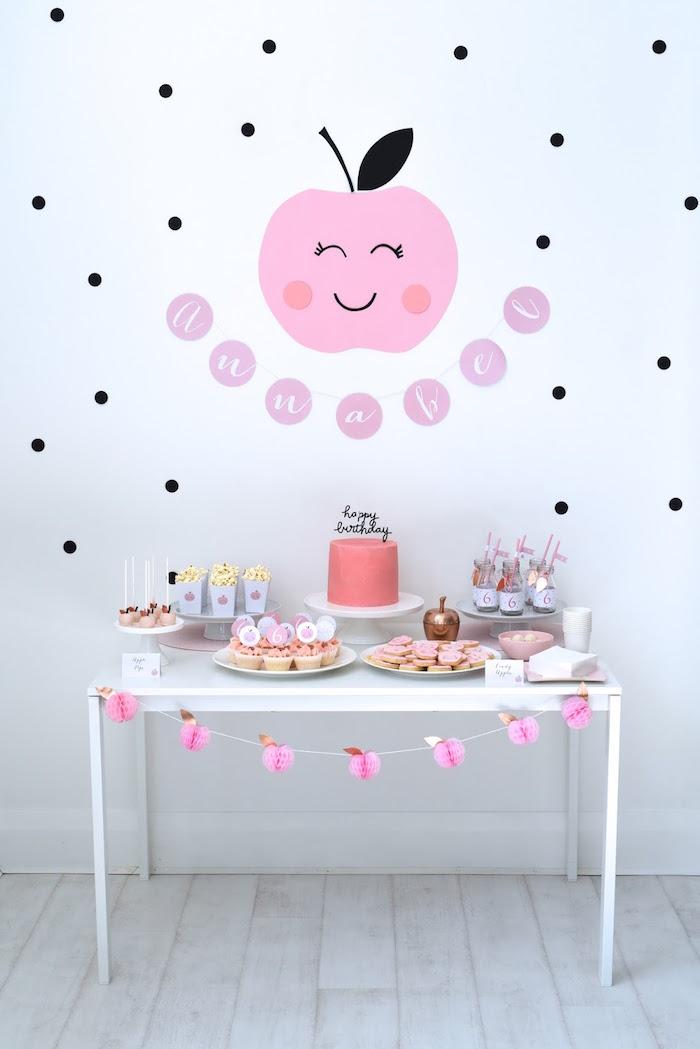Dessert Table from an Apple of my Eye Themed Birthday Party via Kara's Party Ideas |KarasPartyIdeas.com (24)