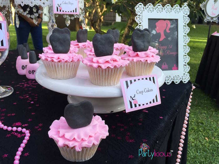Cupcakes from a Barbie Fashion Birthday Party via Kara's Party Ideas |The Place for All Things Party! KarasPartyIdeas.com (37)