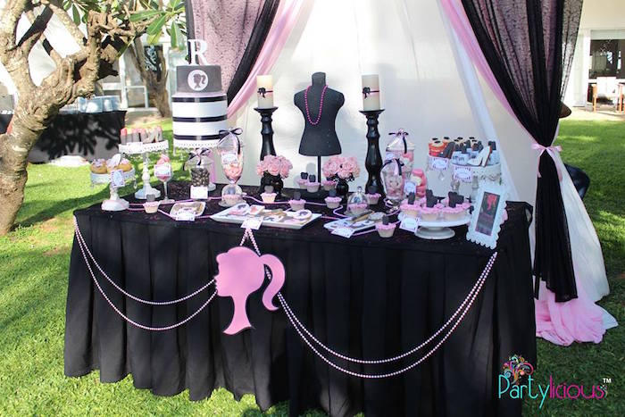 Remarkable Karas Party Ideas Barbie Fashion Birthday Party Karas Interior Design Ideas Clesiryabchikinfo