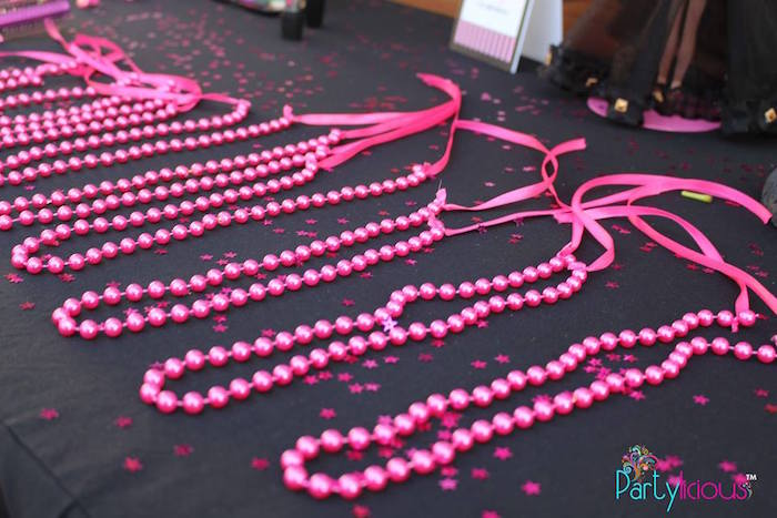 Bead Necklaces from a Barbie Fashion Birthday Party via Kara's Party Ideas |The Place for All Things Party! KarasPartyIdeas.com (22)