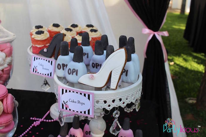 Nail Polish Cake Pops from a Barbie Fashion Birthday Party via Kara's Party Ideas |The Place for All Things Party! KarasPartyIdeas.com (16)