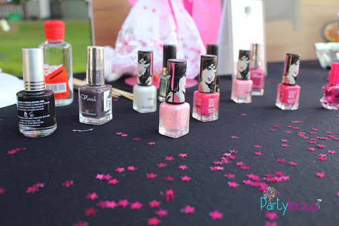 Nail Station from a Barbie Fashion Birthday Party via Kara's Party Ideas |The Place for All Things Party! KarasPartyIdeas.com (13)