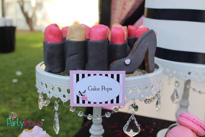 Lipstick Cake Pops from a Barbie Fashion Birthday Party via Kara's Party Ideas |The Place for All Things Party! KarasPartyIdeas.com (10)