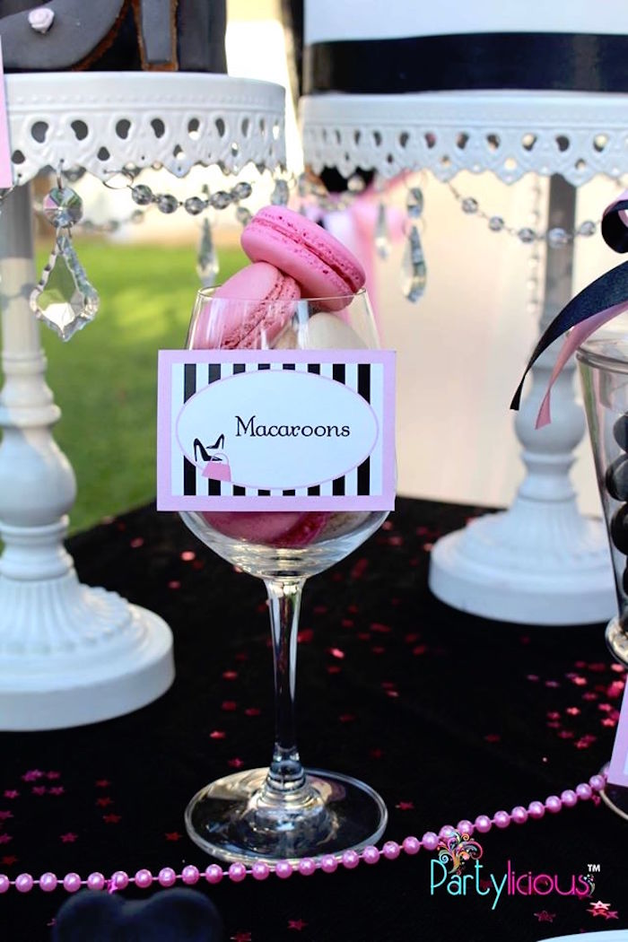 Macarons from a Barbie Fashion Birthday Party via Kara's Party Ideas |The Place for All Things Party! KarasPartyIdeas.com (5)