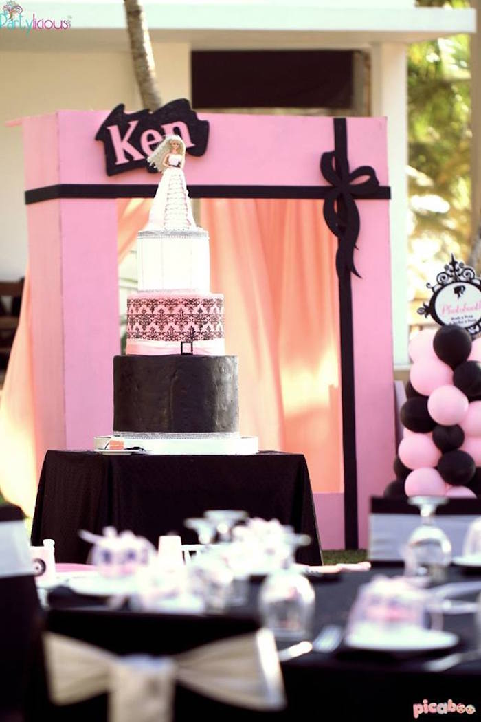 Cake From A Barbie Fashion Birthday Party Via Karas Ideas