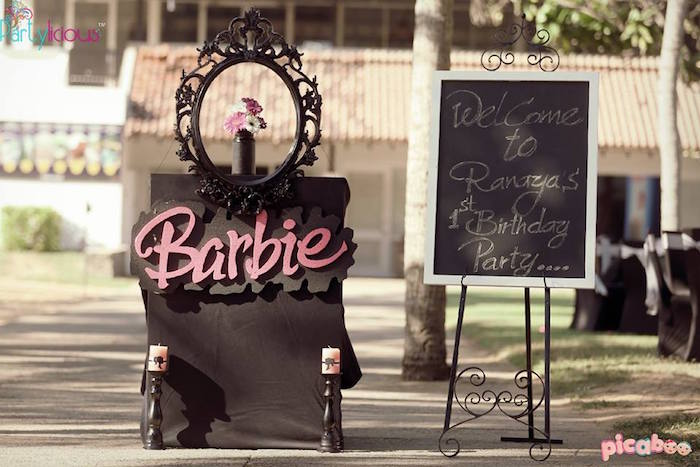 Entrance to a Barbie Fashion Birthday Party via Kara's Party Ideas |The Place for All Things Party! KarasPartyIdeas.com (41)