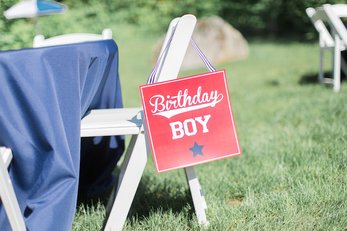 Chair Assignment Sign from a Baseball Birthday Party via Kara's Party Ideas | KarasPartyIdeas.com (10)