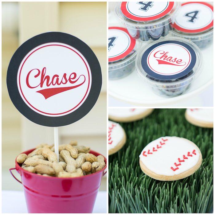 Snacks from a Baseball Birthday Party via Kara's Party Ideas | KarasPartyIdeas.com (7)