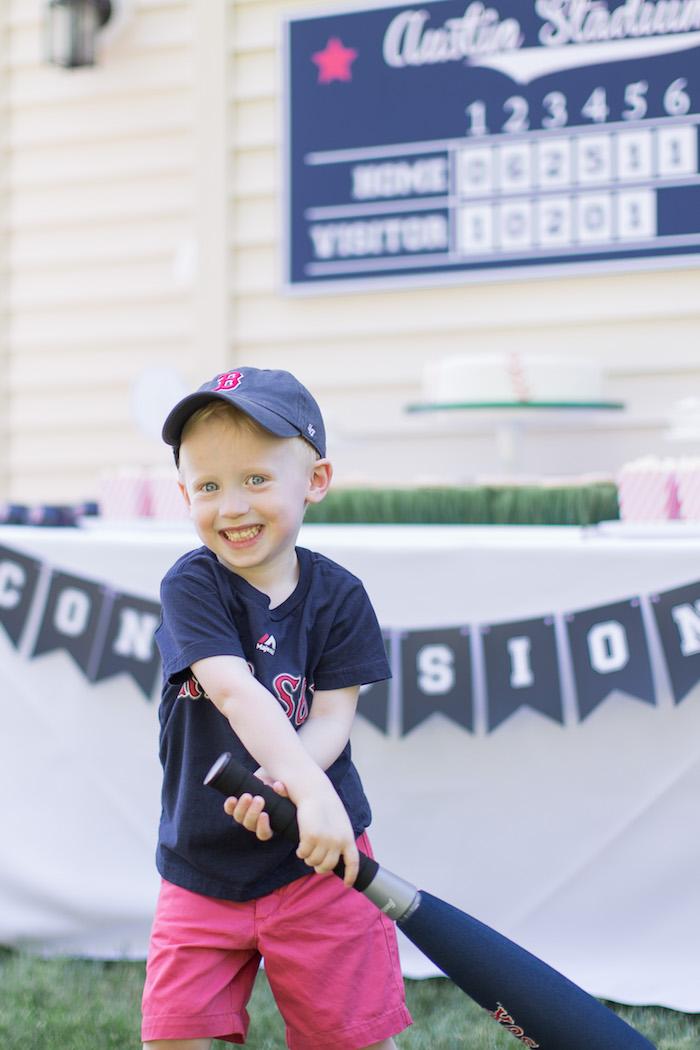 Birthday Boy from a Baseball Birthday Party via Kara's Party Ideas   KarasPartyIdeas.com (4)