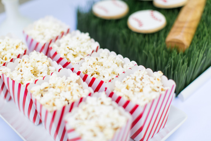 Popcorn Filled Snack Boxes from a Baseball Birthday Party via Kara's Party Ideas | KarasPartyIdeas.com (17)