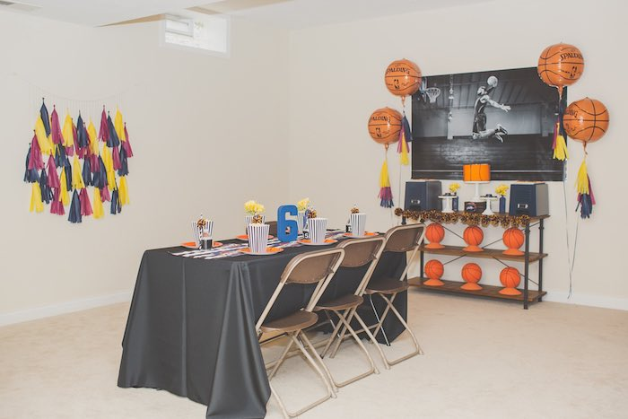 Sweet Display + Guest Table from a Basketball Birthday Party via Kara's Party Ideas KarasPartyIdeas.com (23)