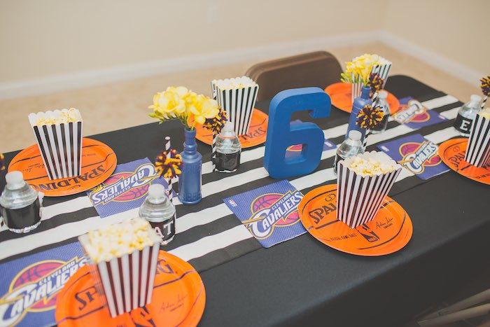 Dining Tablescape from a Basketball Birthday Party via Kara's Party Ideas KarasPartyIdeas.com (22)