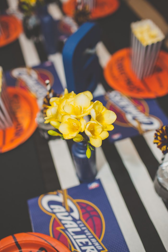 Florals from a Basketball Birthday Party via Kara's Party Ideas KarasPartyIdeas.com (20)