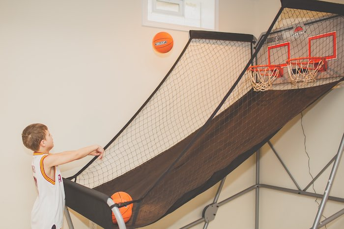 Basketball Hoop from a Basketball Birthday Party via Kara's Party Ideas KarasPartyIdeas.com (35)